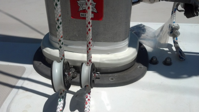 A properly installed mast boot, from SSI, by The Rigging Co.