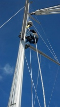 unstepping the mast, the rigging company