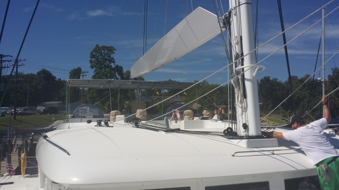 Lagoon 620. Basic Inspection and Hydraulics Troubleshooting for the Bamar Headsail Furlers, Tenderlift System as well as the Pasarelle Gang Plank