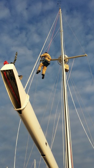 Owner of The Rigging Company Sean Simmons Aloft