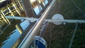 TV Antenna, Hailer, Radar, Radar Reflector, Deck/ Steam Light, And spreader Lights
