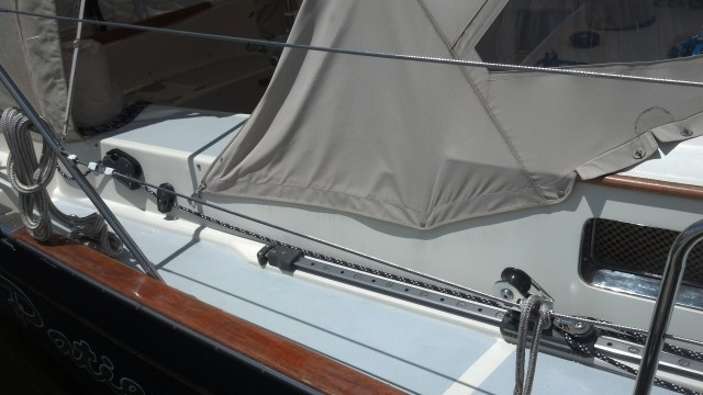 Brand new Lewmar Adjustable Jib Lead, Cleating Arrangement. Passport 456 Aft Cockpit