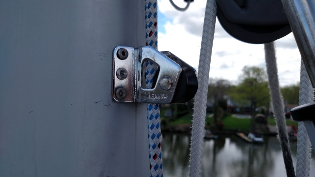 The Improper way to install a Harken Halyard Restrainer