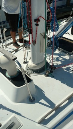 Another Great Mast Boot Job. Guaranteed Not to Leak. Swan 43