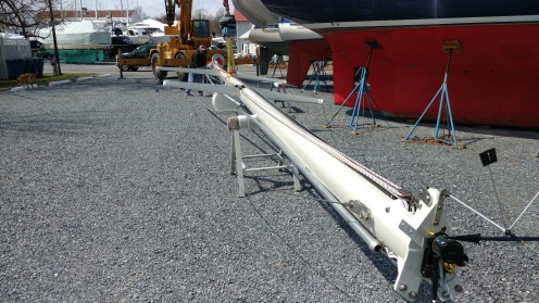 Complete Rod Service. All New Electrical. Complete Mast Re-finish. New Single Line Reef System. New Tri-sail track. New Tides Marine Strong Track. New TRC Preventer System. Valiant 42. Best riggers in Annpolis