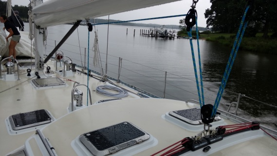 Apogee 58. Completely Refurbished Harken/ Marlow Mainsheet and Traveler System by The Rigging Company in Annapolis.
