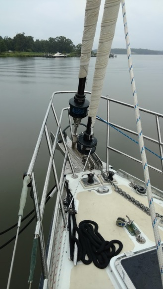 Apogee 58 with 2 Brand New Harken Headsail Furlers!!! ....and Custom Link Plate!