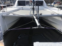 A Complete, Custom, Bow Sprit and Top Down Furling System for Catamarans. Brought to You The Rigging Company.