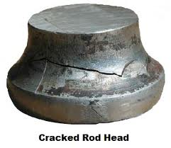 cracked rod head