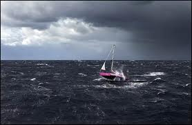 Heavy wind big storm sailing