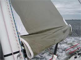 Reefing the mainsail