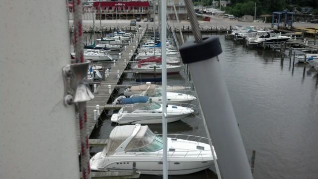 Hood Yacht systems Aloft at White Rocks Marina