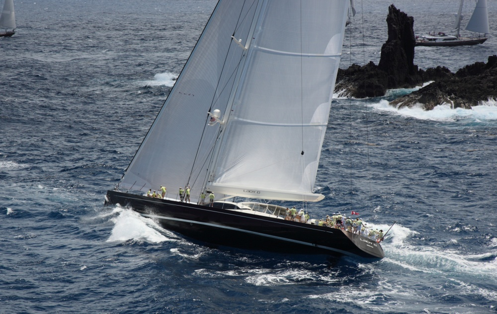 Dubois-designed-45-m-Yacht-Lady-B-by-Vitters-competing-in-St-Barths-Bucket-2012