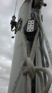 How to hoist yourself up the mast