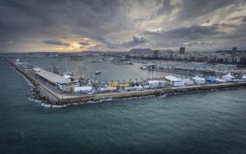 Alicante Spain Volvo Ocean Race. The start of the race