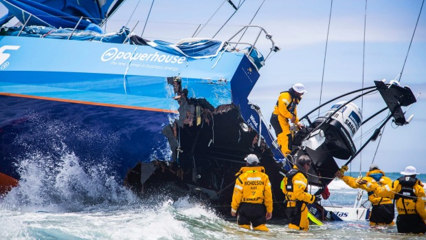 The famous Vestas Wind Crash Picture, total loss, run aground, crash into earth