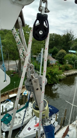 Baba 40 from aloft Annapolis landing marina