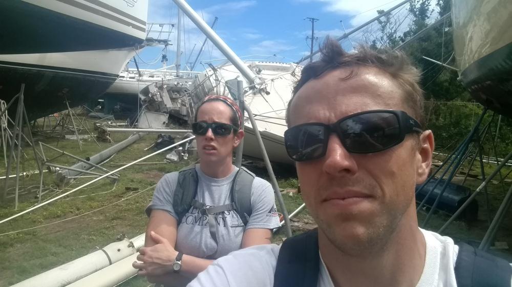 Hurrican Irma and Maria Damage. The Rigging Company Virgin Gorda.
