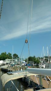 Selden Wire Block to facilitate the new Adjustable backstay system