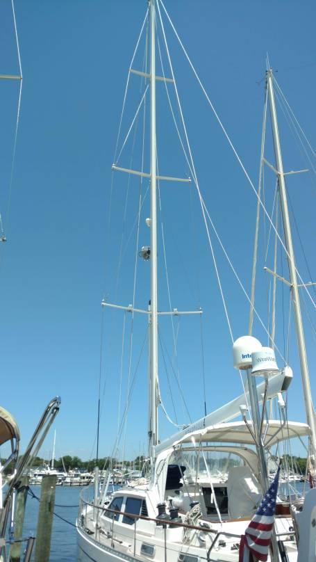StaLok Single Side Band Backstay Insulators. Nauticat 515